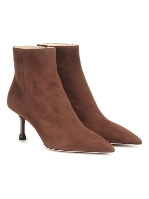 Prada suede ankle boots