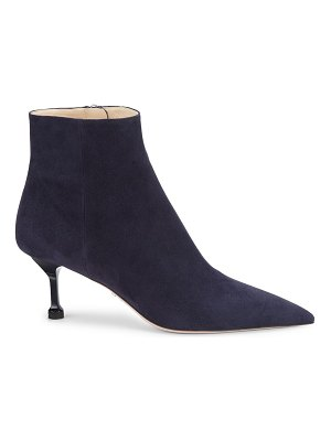 Prada point-toe suede ankle boots