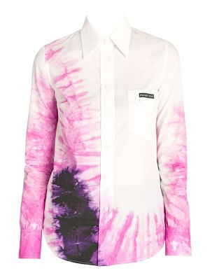Prada tie-dye button-down shirt