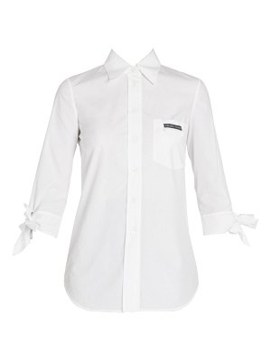 Prada tie-sleeve poplin button down shirt