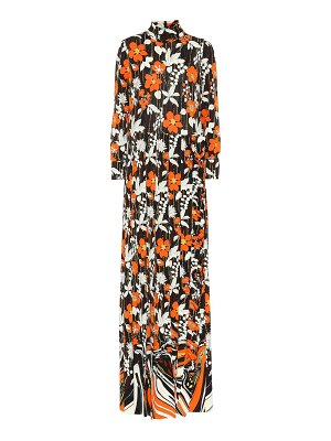 Prada turtleneck floral maxi dress