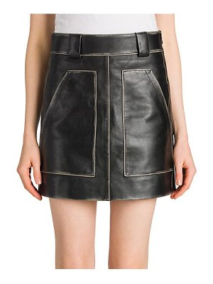 Prada vintage leather mini skirt