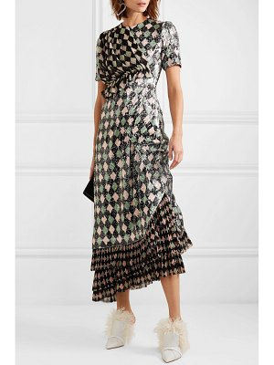 Preen by Thornton Bregazzi addison printed sequined georgette and chiffon dress