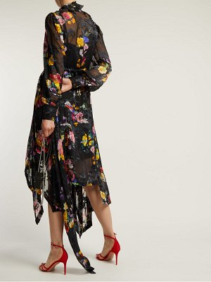 Preen by Thornton Bregazzi Amelia floral-devoré satin midi dress