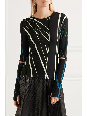 Preen by Thornton Bregazzi dee cutout printed stretch-jersey top