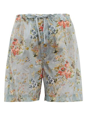 Preen by Thornton Bregazzi isabelle tapestry-print ripstop shorts