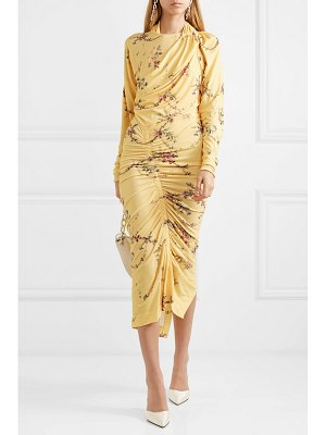 Preen by Thornton Bregazzi louise ruched floral-print stretch-crepe dress