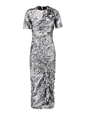 Preen by Thornton Bregazzi sophia sequinned ruched front midi dress