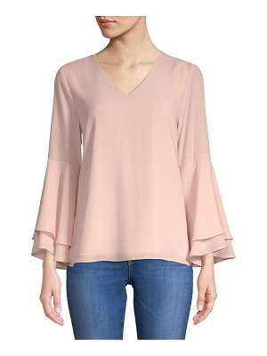 PREMISE STUDIO Layered Bell-Sleeve Blouse