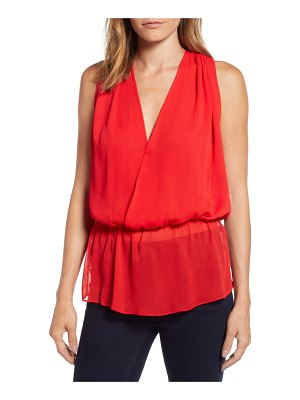PRESS faux wrap blouson top