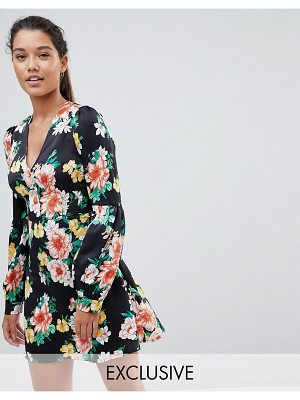 PrettyLittleThing Floral Print Dress