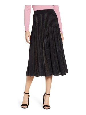 PRIMA sparkle pleated midi skirt