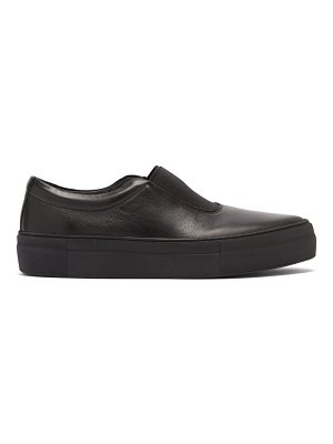 PRIMURY basal leather slip-on trainers