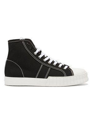 PRIMURY divid hi recycled cotton-canvas trainers
