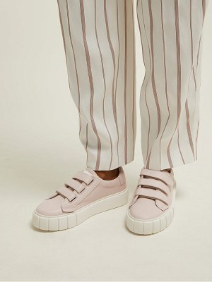 PRIMURY scratch low top leather trainers