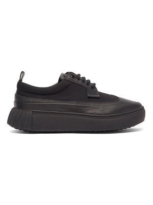 PRIMURY panelled leather and mesh trainers