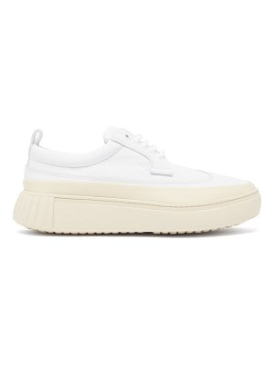 PRIMURY panelled leather trainers