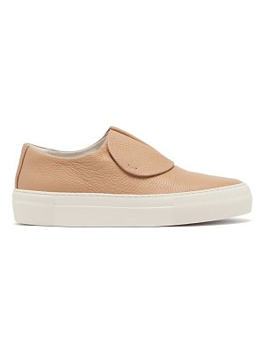 PRIMURY paper planes slip-on leather trainers
