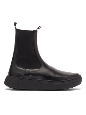 PRIMURY waffle chunky-sole leather chelsea boots