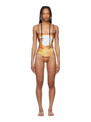 PRISCAvera brown printed  one-piece swimsuit