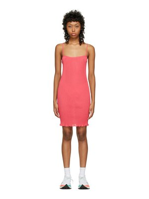 PRISCAvera ssense exclusive pink mini cami dress