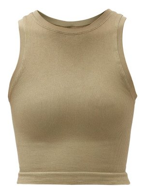 PRISM² luminous ribbed stretch-jersey tank top