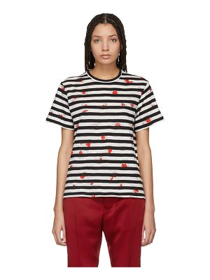 Proenza Schouler & Off-White Striped Tissue T-Shirt