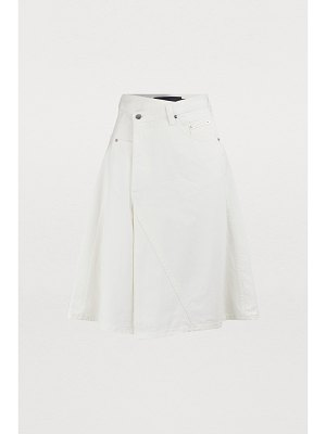 Proenza Schouler Asymmetric denim skirt