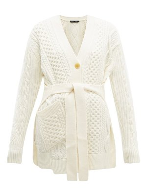 Proenza Schouler belted cable-knit wool cardigan