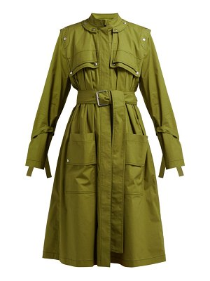 Proenza Schouler Belted Cotton Blend Single Breasted Trench Coat