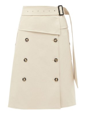 Proenza Schouler belted panelled-twill midi skirt