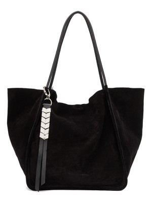 Proenza Schouler black extra large suede tote