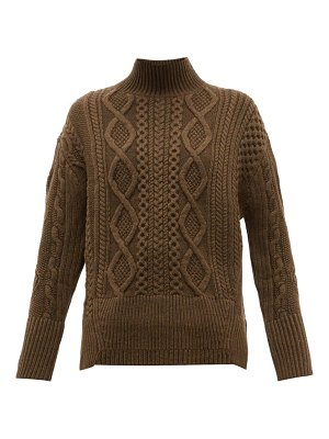 Proenza Schouler cable knit wool sweater