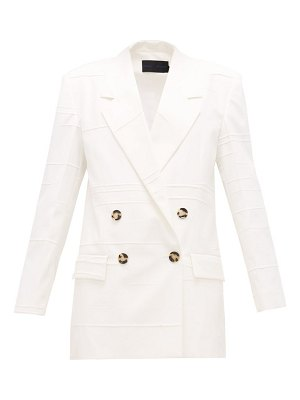 Proenza Schouler double-breasted crinkled-crepe jacket