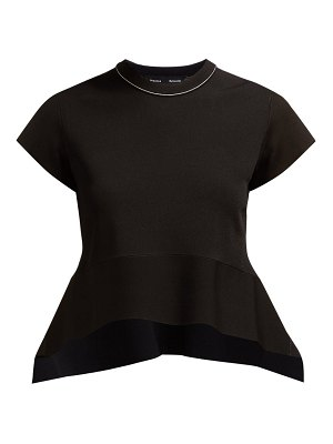 Proenza Schouler draped peplum stretch jersey top