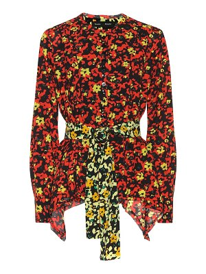 Proenza Schouler Floral-printed georgette shirt