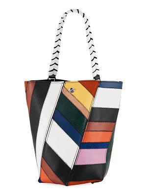 Proenza Schouler Hex Medium Colorful Patchwork Leather Bucket Bag