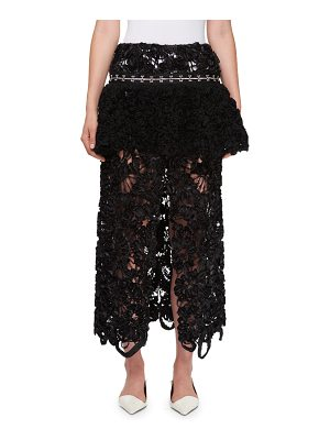 Proenza Schouler Irish Lace Peplum Skirt