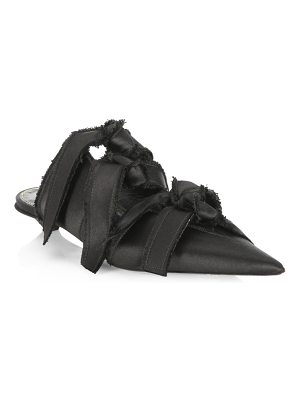 Proenza Schouler knotted satin mules