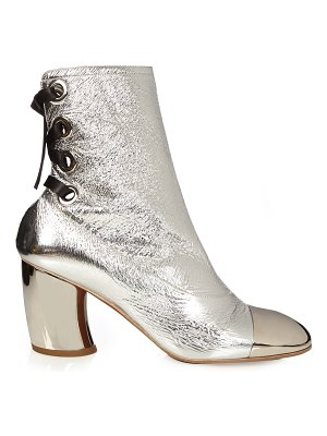 Proenza Schouler Leather curved heel ankle boots