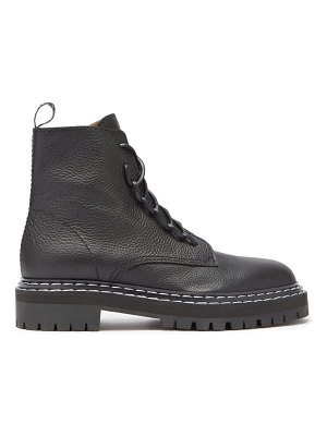 Proenza Schouler logo-pull grained-leather boots