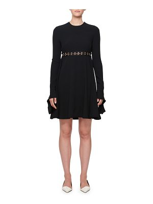 Proenza Schouler Long-Sleeve Hook Cutout Dress