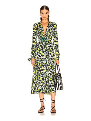 Proenza Schouler long sleeve printed dress