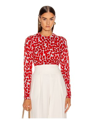 Proenza Schouler long sleeve printed spots top