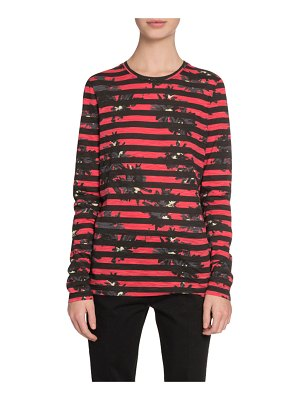 Proenza Schouler Long-Sleeve Splattered-Floral-Print T-Shirt