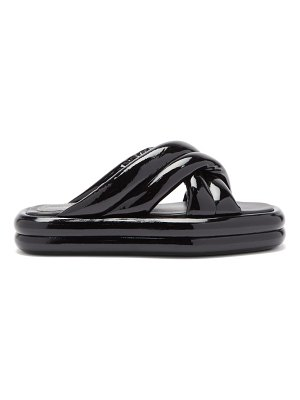 Proenza Schouler padded patent-leather slides