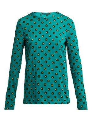 Proenza Schouler pansy print long sleeved cotton t shirt