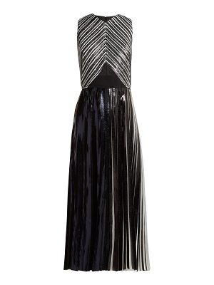 Proenza Schouler Pleated foil cloqué dress