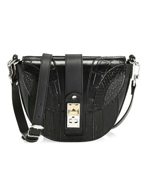 Proenza Schouler ps11 small croc-embossed leather saddle bag