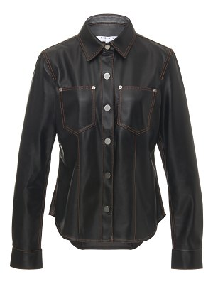 Proenza Schouler PSWL faux leather button down shirt size: 0